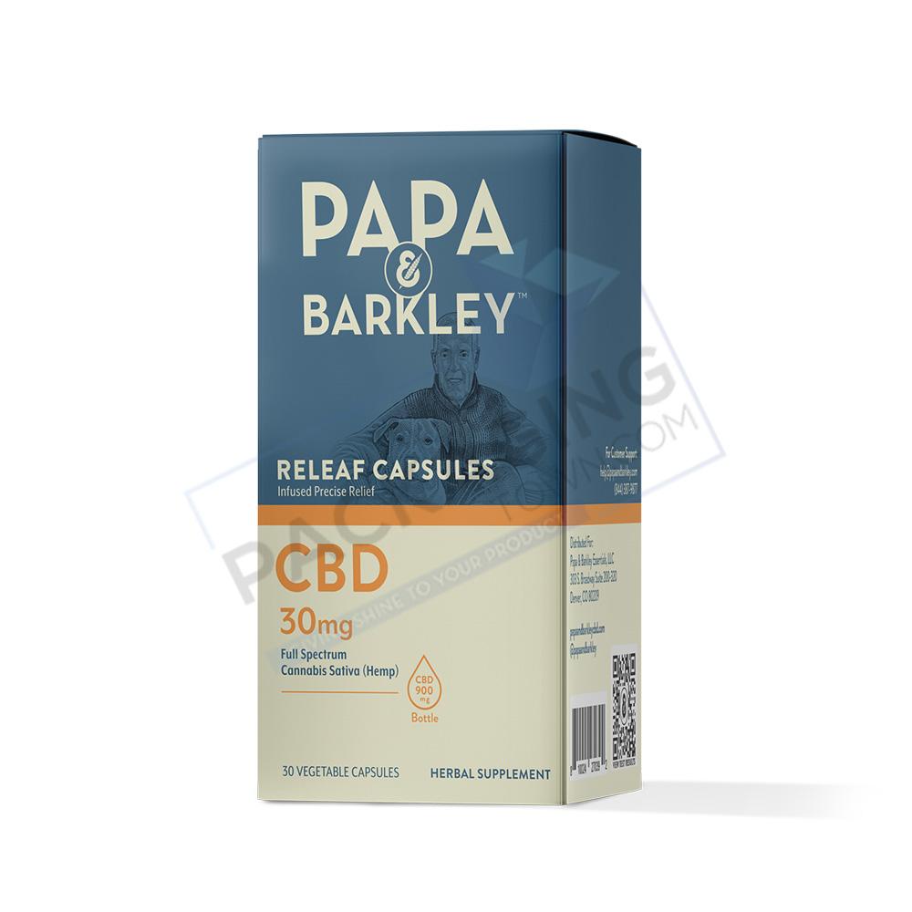 CBD Pain Relief Capsules | Custom CBD Pain Relief Capsule | Packaging Town